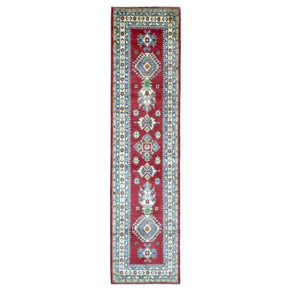One-of-a-Kind Abbotsford Traditional Oriental Hand Woven Wool Red/Green/Blue Area Rug by Isabelline