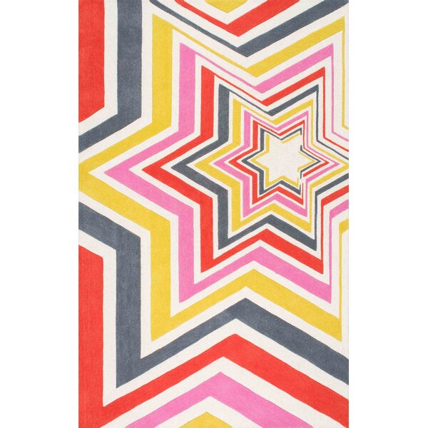 Hand-Tufted Pink/Yellow Area Rug by Thomas Paul