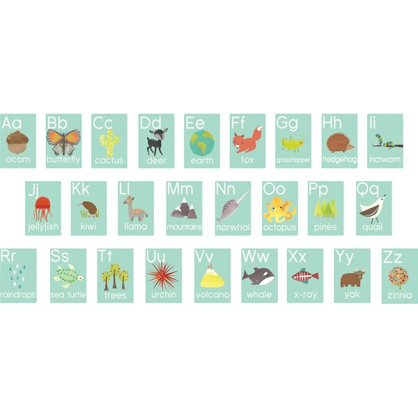 Latisha 26 Piece Nature Themed Alphabet Wall Paper Print Set by Viv + Rae