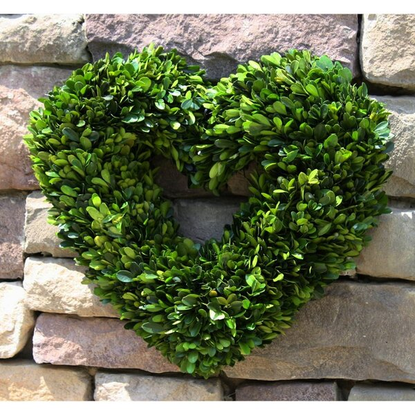 Boxwood Heart 16 Wreath by Mills Floral