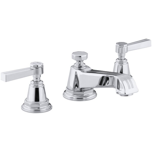 Pinstripe Widespread Bathroom Faucet with Drain Assembly by Kohler