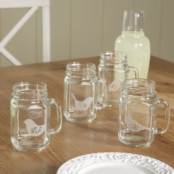 Birds of a Feather Drinking Jar (Set of 4) by Birch Lane™