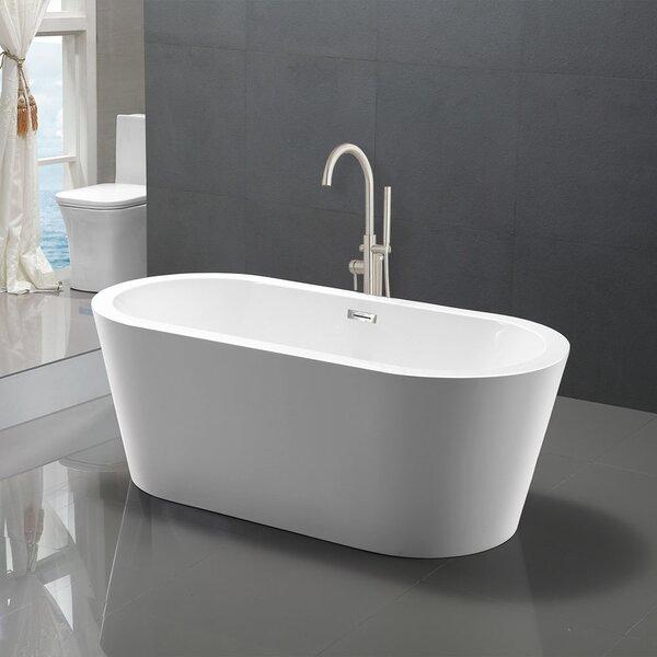 59 x 30 Freestanding Soaking Bathtub by WoodBridge