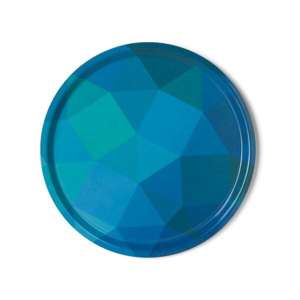 Prismatic Melamine Round Serving Platter by notNeutral