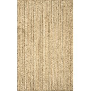 Latham Rigo Jute Hand-Woven Tan Area Rug