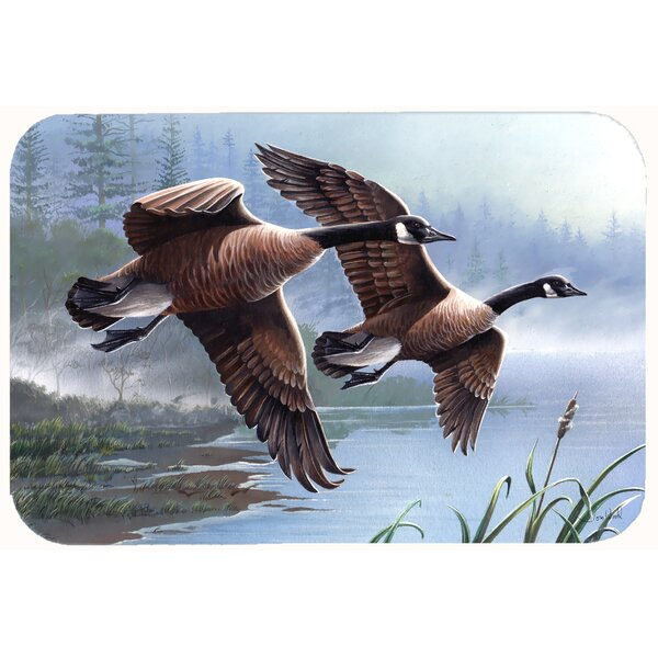 Geese on the Wing Kitchen/Bath Mat by Caroline's Treasures