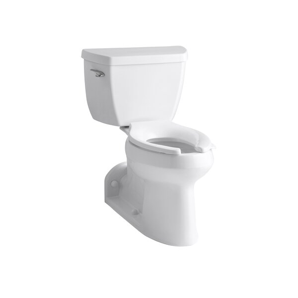 Barrington™ Comfort Height® Two-Piece Elongated 1.0 GPF Toilet with Pressure Lite® Flushing Technology, Left-Hand Trip Lever and Antimicrobial Finish, Less Seat by Kohler