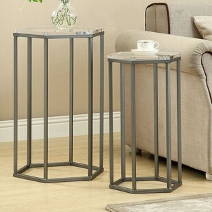 Inexpensive Bains 2 Piece Nesting Tables by Brayden Studio