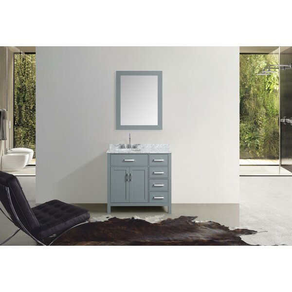Weatherford 37 Single Bathroom Vanity Set with Mirror by Orren Ellis
