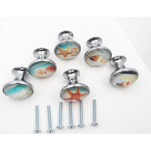 Tropical Beach Starfish 6 Piece Mushroom Knob Set Multipack (Set of 6) by Shabby Restore