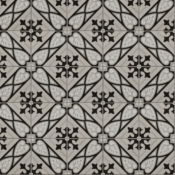 Heather 5.88 x 5.88 Porcelain Field Tile in Gray/Black by EliteTile