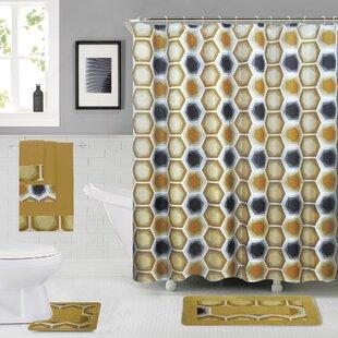 Reviews Leona Shower Curtain Set ByCorrigan Studio