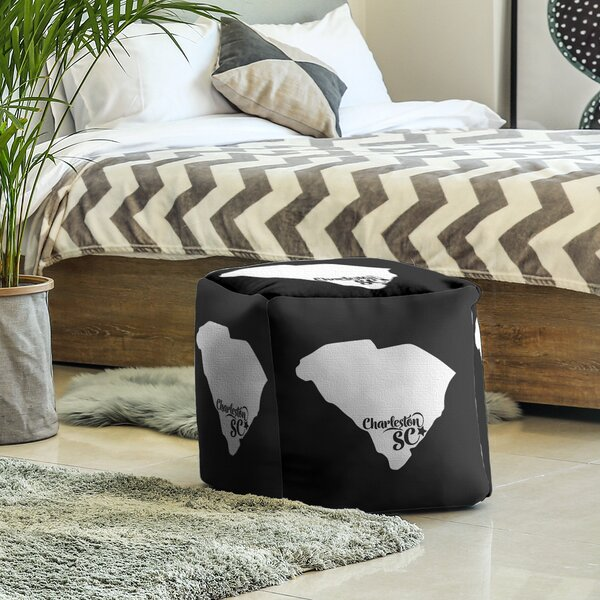 Charleston South Carolina Cube Ottoman by East Urban Home East Urban Home