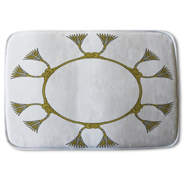 Biddeford Ancient Lotus Motifs Designer Bath Rug