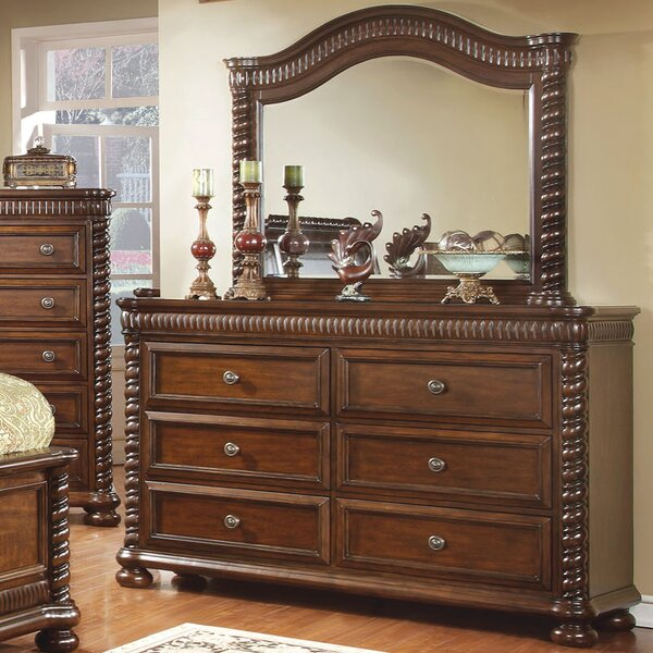 Bautini 6 Drawer Double Dresser with Mirror by Hokku Designs
