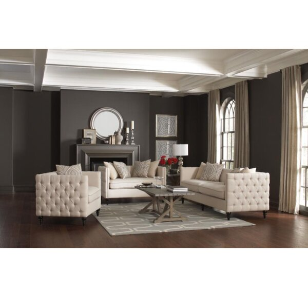 Best #1 Alfhild 3 Piece Living Room Set By One Allium Way Best Design