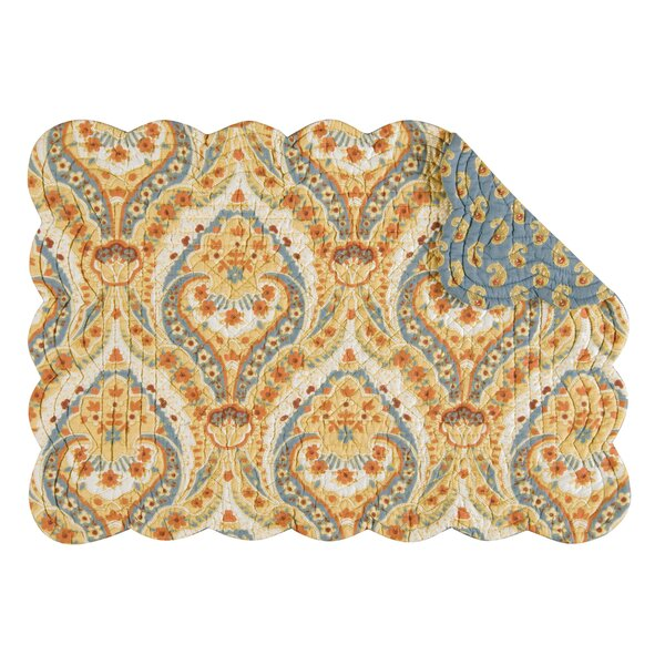 Rockcrest Reversible Quilt Scallop Placemat (Set of 6) by Bloomsbury Market