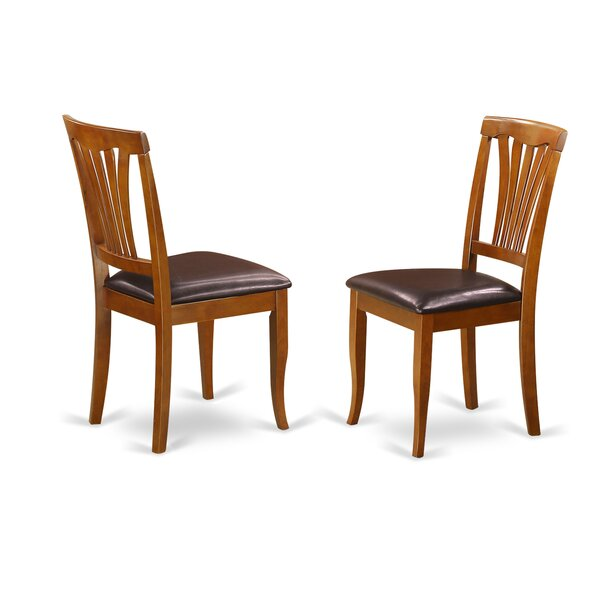 Square Side Chair in Faux Leather (Set of 2) by August Grove