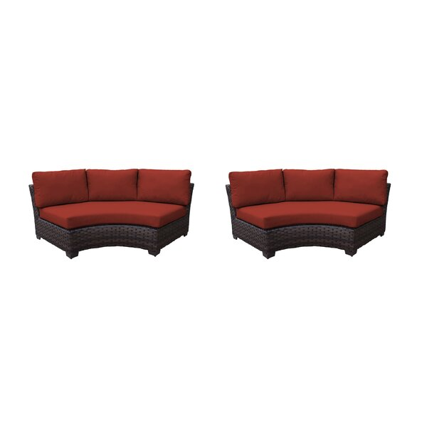 kathy ireland Homes & Gardens River Brook Curved Armless Sofa 2 Per Box Patio Chair (Set of 2) by kathy ireland Homes & Gardens by TK Classics kathy ireland Homes & Gardens by TK Classics