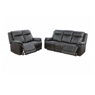 3 Piece Faux Leather Reclining Living Room Set by Changhe Trading Inc