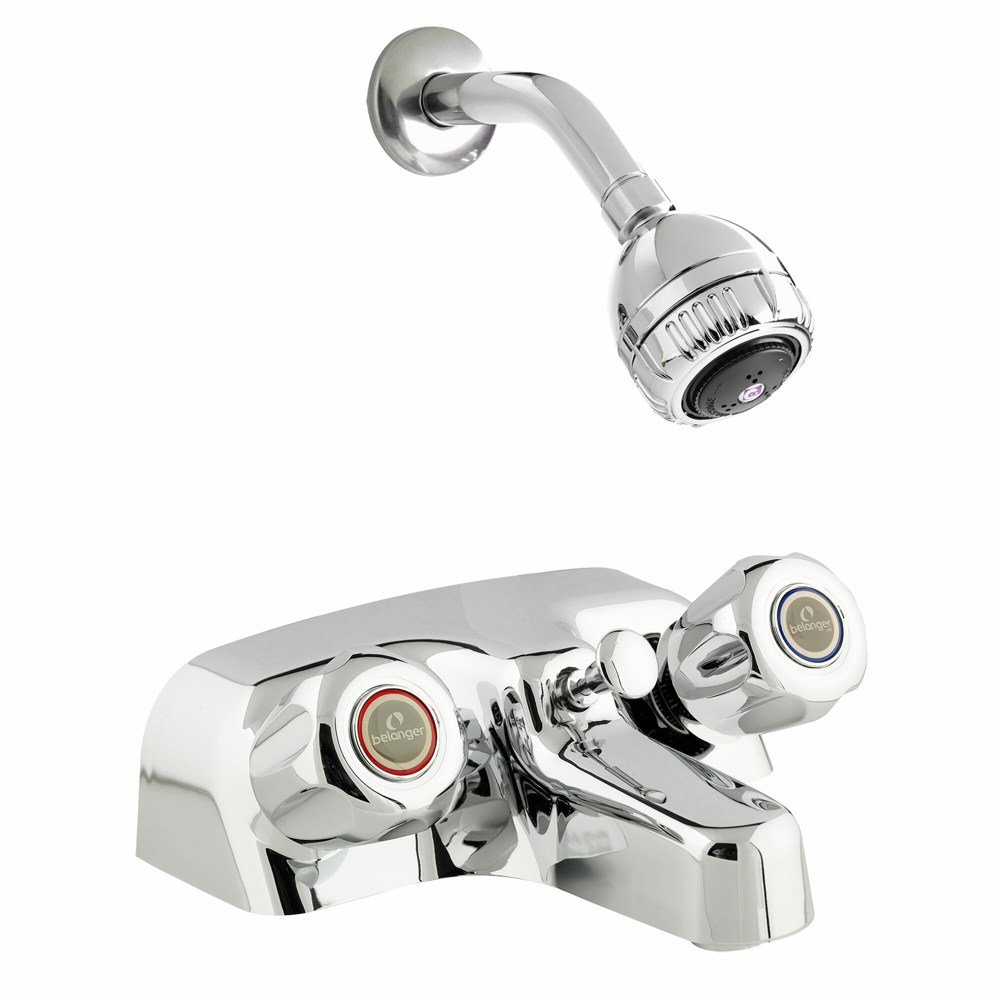 Belanger Double Handle Tub And Shower Faucet With Knob Handles