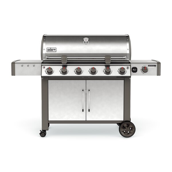 Genesis II LX S-640 6-Burner Natural Gas Grill with Side Burner by Weber