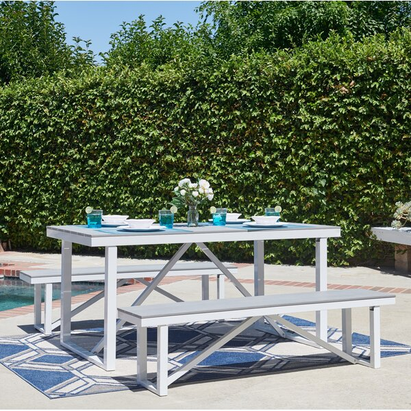 Krista 3 Piece Dining Set by Freeport Park