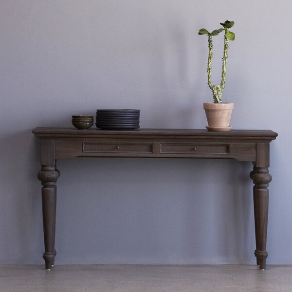 Review Rottman Solid Teak Console Table