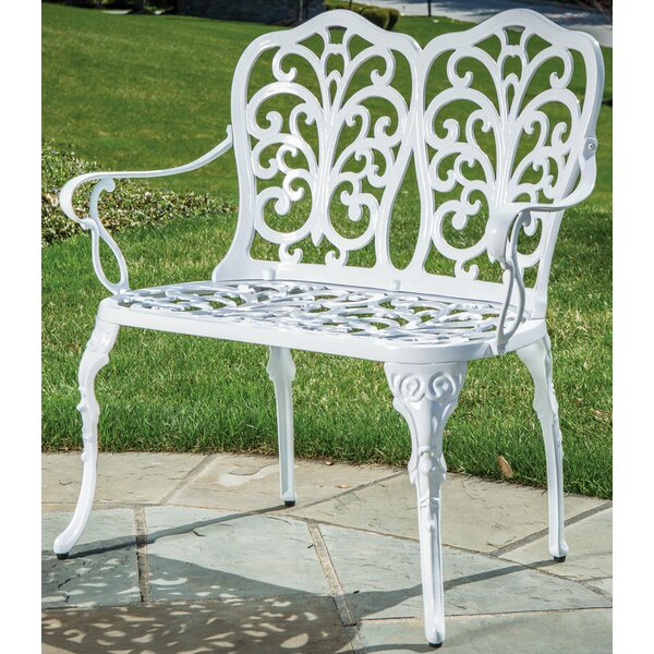 Celine Cast Aluminum Garden Bench by Alfresco Home