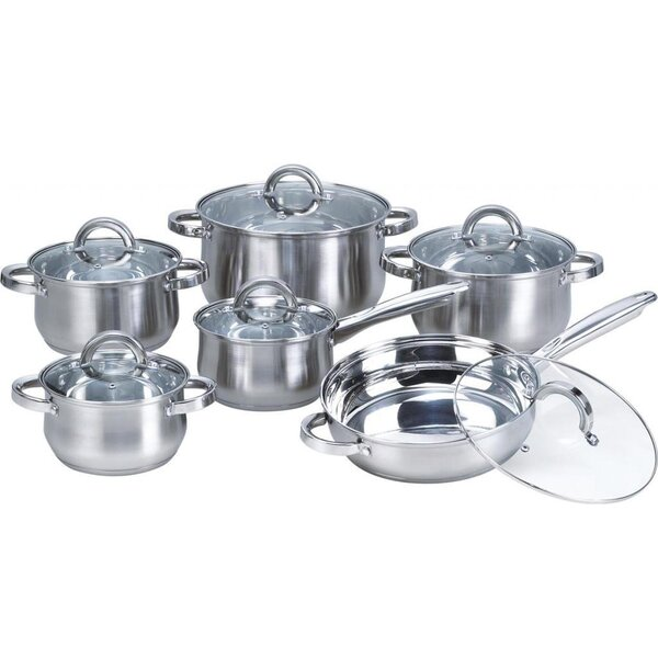 12-Piece Stainless Steel Cookware Set by Heim Concept