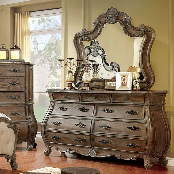 Kaylynn 9 Drawer Dresser with Mirror by Rosdorf Park