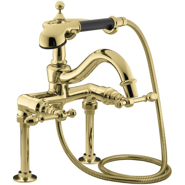 Iv Georges Brass Bath Faucet with Diverter Spout, Lever Handles and Handshower by Kohler