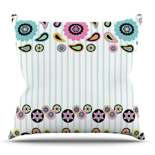 Paisley Party by Nina May Outdoor Throw Pillow by East Urban Home