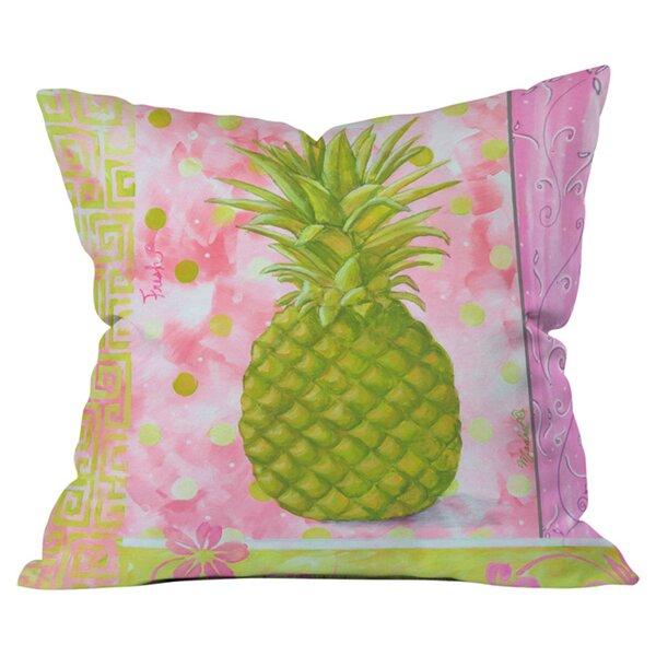 Fresh Pineapple Outdoor Throw Pillow