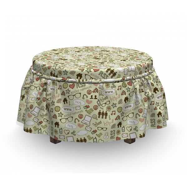 It Crowd Computer Network Ottoman Slipcover (Set Of 2) By East Urban Home