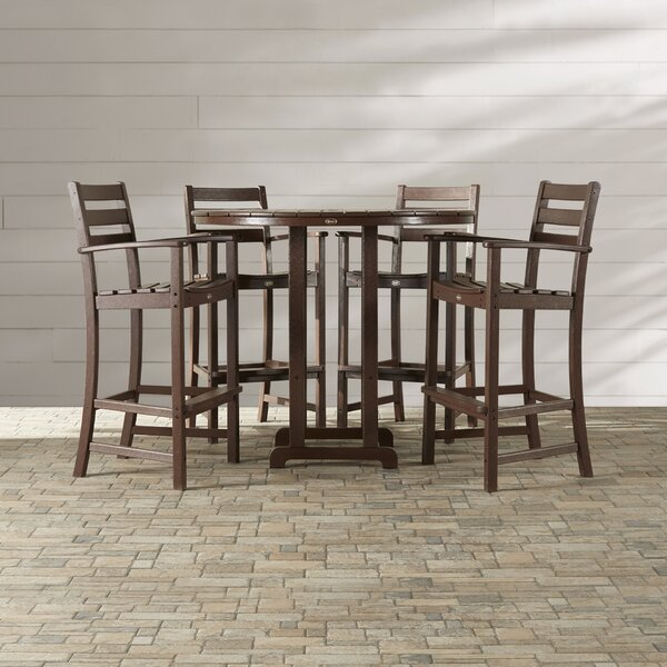 Monterey Bay 5 Piece Bar Height Dining Set by Trex