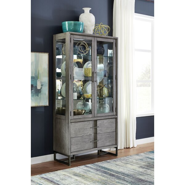 Eichhorn Wood Curio Lighted China Cabinet by Brayden Studio