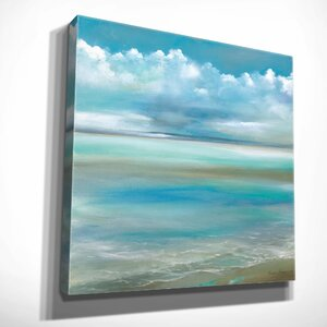'Tranquility by the Sea II' by Ruane Manning Painting Print on Wrapped Canvas by Wexford Home
