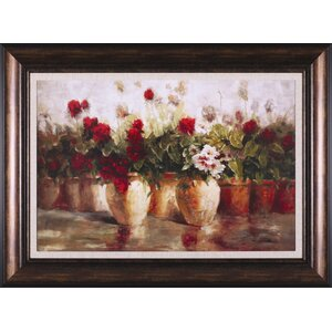 'All in a Row' Framed Painting Print by Darby Home Co