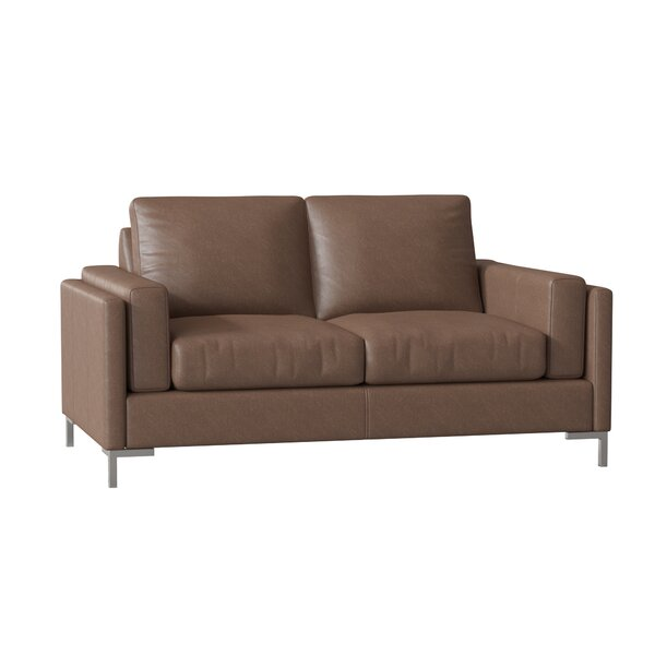 Lage Leather Loveseat By Wrought Studio