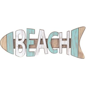 Beach Fish Sign Wall Decor