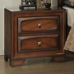 Oakland 2 Drawer Nightstand by Roundhi..