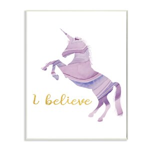 Graphic Unicorn Colors Pastels Wall Plaque by Stupell Industries