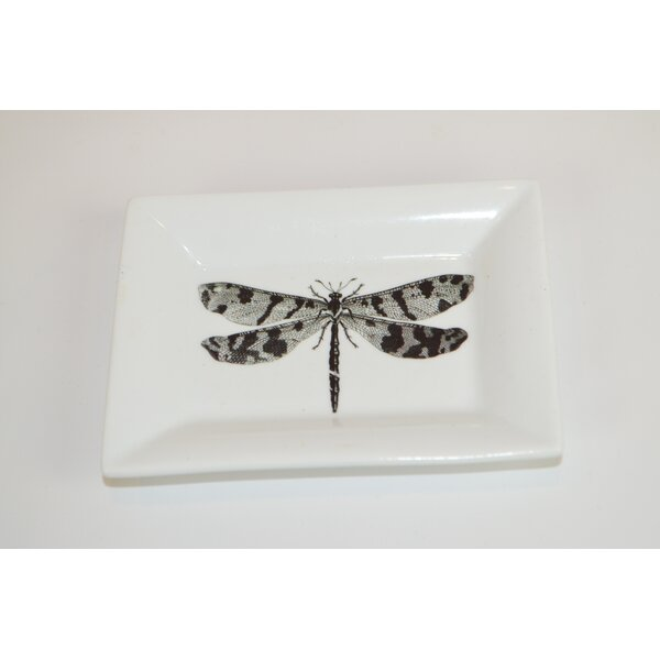 Dragonfly Decorative Plate by The French Bee