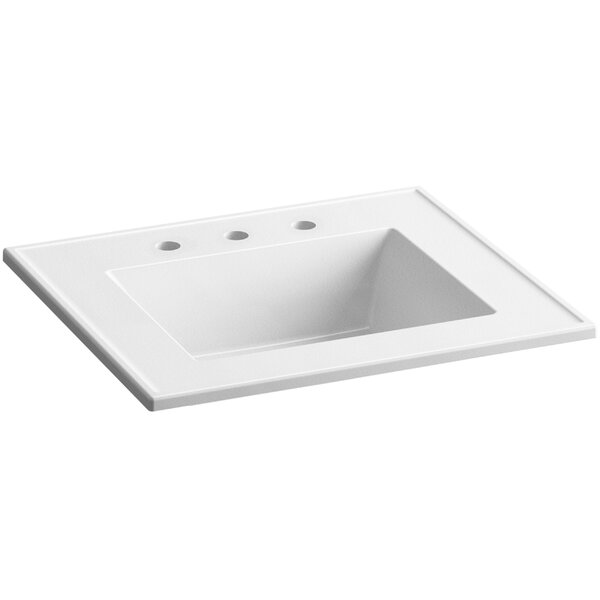 Ceramic Impressions Impressions Ceramic Rectangular Dual Mount Bathroom Sink with Overflow by Kohler
