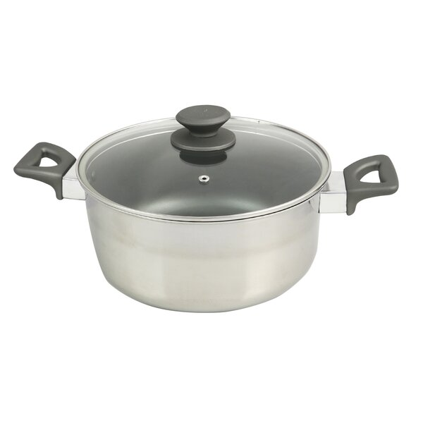 Lexie 5 Qt. Stainless Steel Round Dutch Oven by Symple Stuff