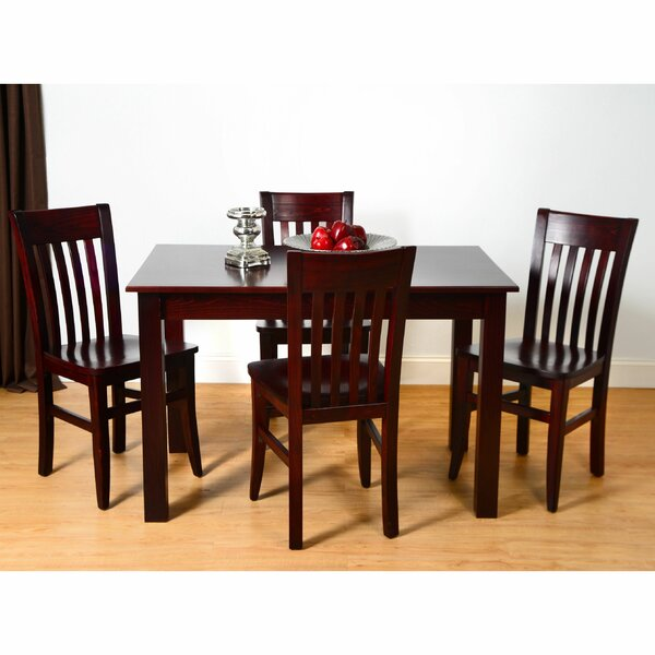 Kennerson 5 Piece Solid Wood Dining Set by Alcott Hill Alcott Hill