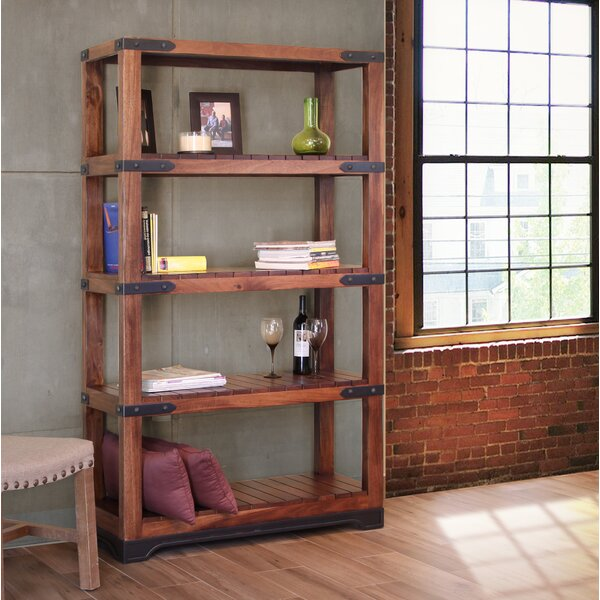 Stines Etagere Bookcase with 4 Shelves by Millwood Pines