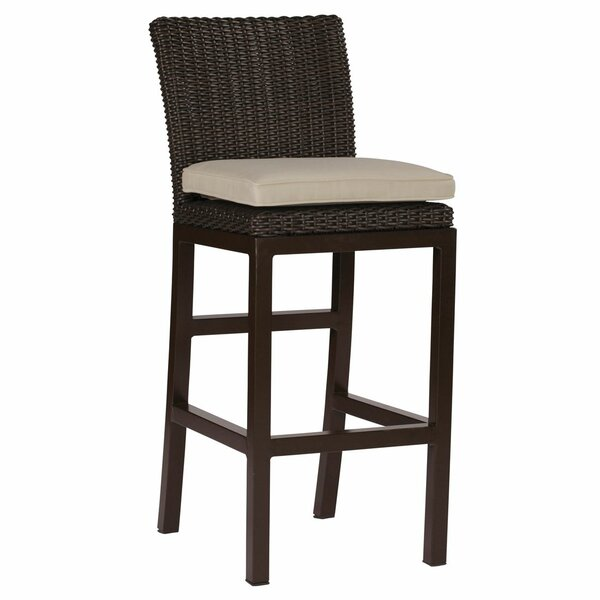 Rustic 32 Patio Bar Stool with Cushion by Summer Classics