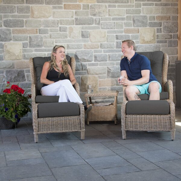 Pilcher 4 Piece Conversation Set with Cushions by One Allium Way